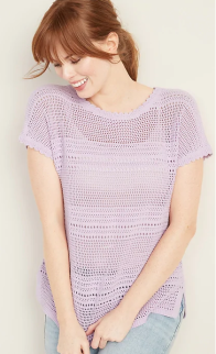 hole sweater lilac color