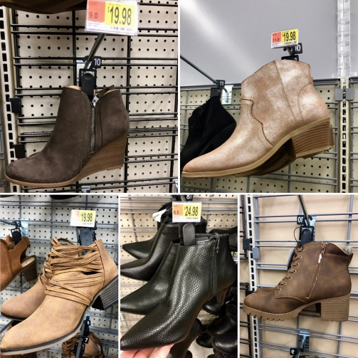 Walmart Booties Collage