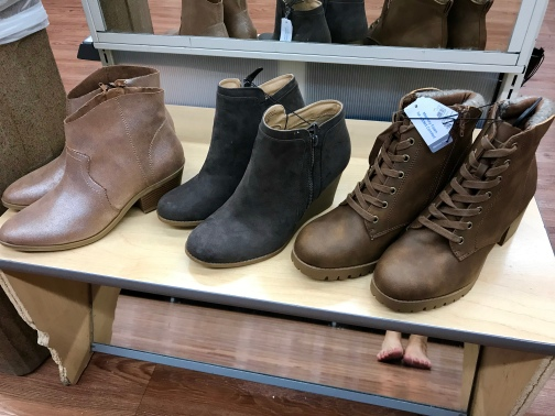 Walmart Booties lined up