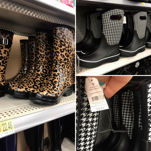 Walmart Rainboots Collage